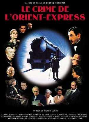 Affiche Crime de l'Orient Express