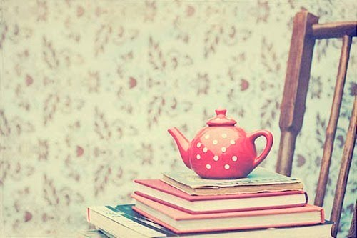 books-chair-tea-vintage