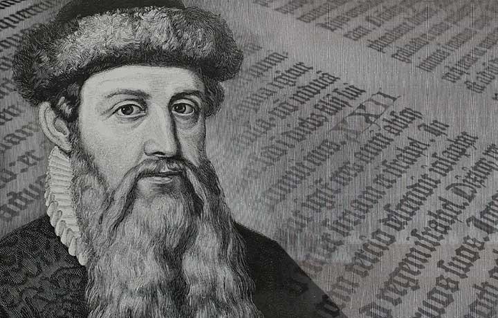 Gutenberg, sans qui nous n'en serions pas là...