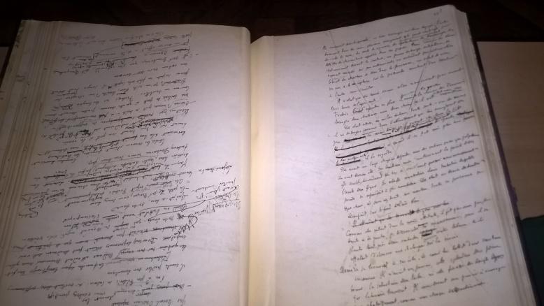 manuscrit de L'éducation sentimentale