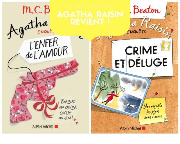 Parutions de deux nouvelles enquêtes d'Agatha Raisin – A