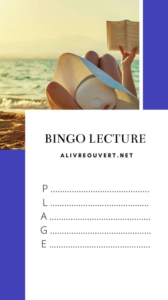 Bingo Lecture Plage